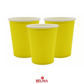 Vasos De Carton Amarillo