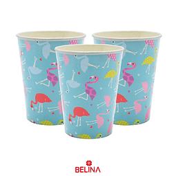 Vasos Azul Flamingo