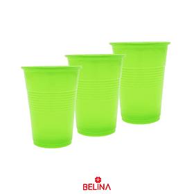 Vasos neon verde 6pcs 290cc