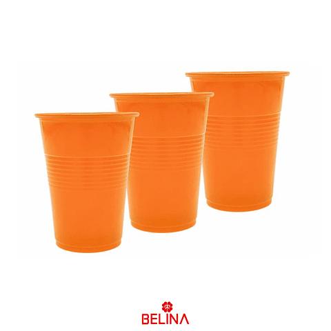 Vasos Neon Naranja 6pcs 290cc