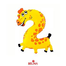 Globo numero 2 jirafa 40x51cm