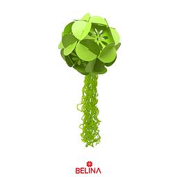 Colgante De Hortensia De Papel Con Borla Verde De 30 Cm