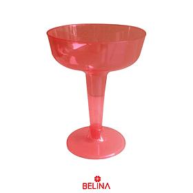 Copas Plasticas Color Rojo 6pcs 8x11x6cm