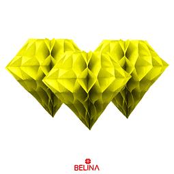 Diamante de papel amarillo 30cm
