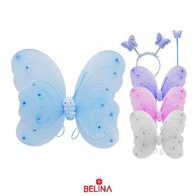 Traje De Tres Piezas De Mariposa Escarabajo De Doble Capa