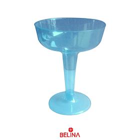 Copa Plástica Color Azul 6pcs 8x11x6.5cm
