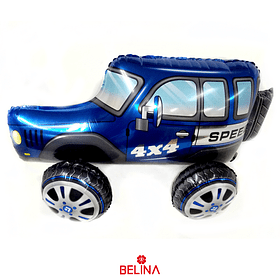 Globo metalico 3D automóvil todoterreno 35x65cm