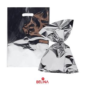 Bolsas metalicas 8pcs plata