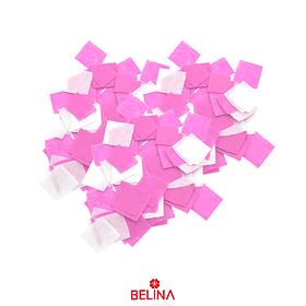 Papel Anti Fuego Cuadro Blanco/Rosa 15mm 40g