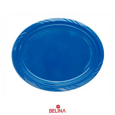 Bandeja Plastica Ovalada Azul