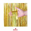 Cortinas metalicas oro holografico 3m