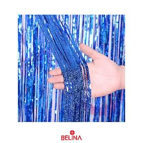 Cortinas Metalicas Azul Holografico 3m