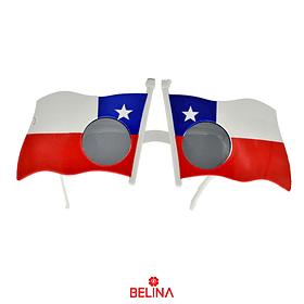 Lentes Con Bandera De Chile 20x7cm