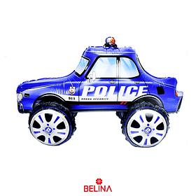 Globo Metalico 3d Auto De Policia 65x38cm