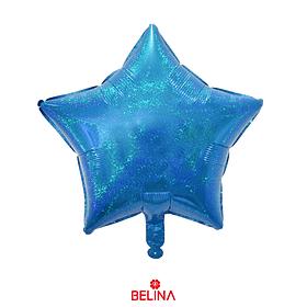 Globo Estrella Celeste Tornasol 45x45cm