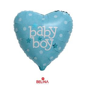 Globo Corazon Baby Boy