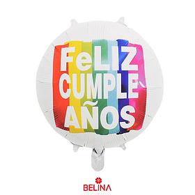 Globo Metalico Feliz Cumpleaños