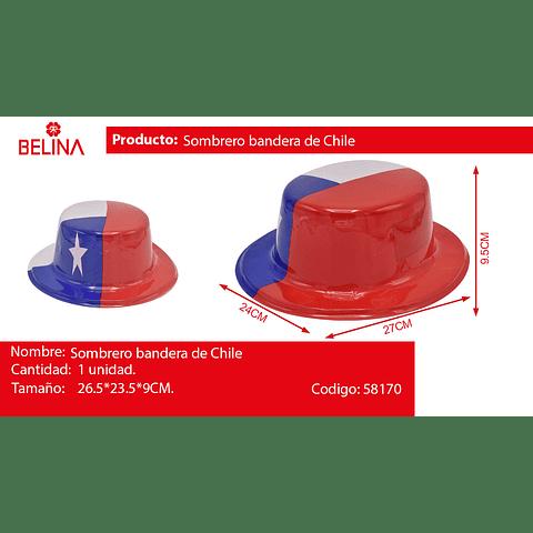 Sombrero De Copa Fiestas Patrias Chile 26x23x9cm