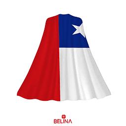 Capa de bandera de Chile 90x145cm