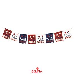 Guirnalda De Banderines Fiestas Patrias Chile