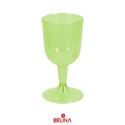 Copas Plasticas 6pcs 6.5x11.2x6.5cm Verde