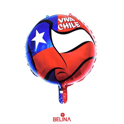 Globo Metalizado Bandera De Chile 45cm