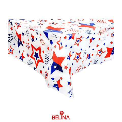 Mantel Plástico Fiestas Patrias Chile 137x274cm