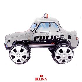 Globo Metalico 3d Auto De Policía 65x38cm