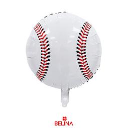Globo Metalizado Redondo De Beisbol De 18 Pulgadas 45 X 45cm