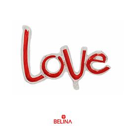 Globo love rojo/plata 78x89cm