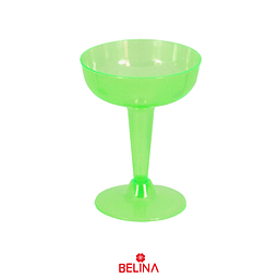 Copa plástica verde neon 6pcs 120ml