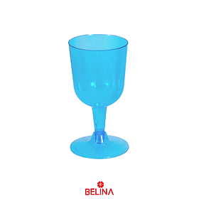Copa plástica azul neon 6pcs 175ml