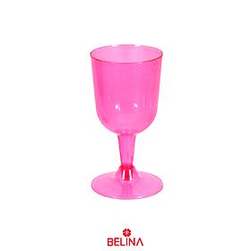 Copa plástica rosa neon 6pcs 175ml