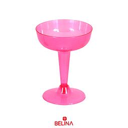 Copa plástica rosa neon 6pcs rosa 120ml