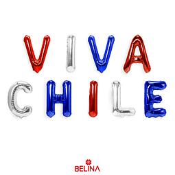 Globo Metalizado Viva Chile 16 Pulgadas