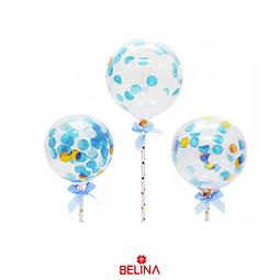 Topper de globos 3pcs azul