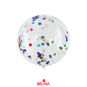 Globo Burbuja Confeti Colores 45cm