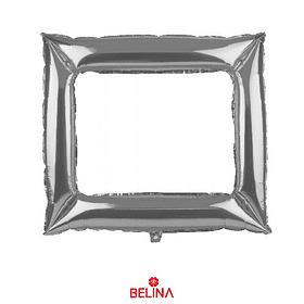 Globo Metalizado Marco Plateado 98x82cm
