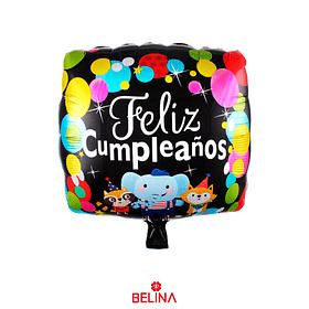 Globo Metalico Feliz Cumpleaños Animales 45cm