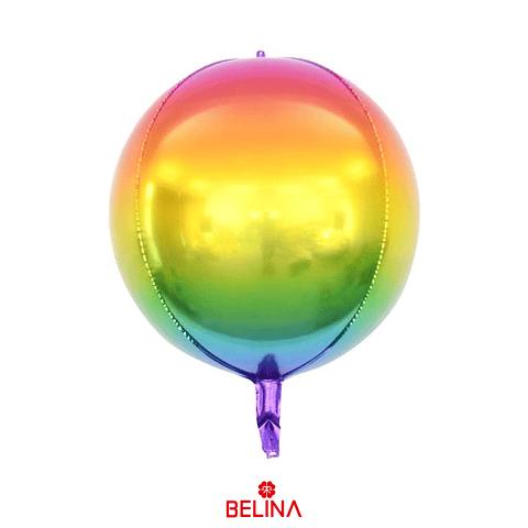 "Globo Metalico Redondo Colores 24"""