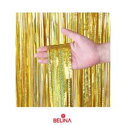Cortinas metalicas oro tornasol 2m