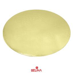Plato torta redondo oro 30cm 2mm