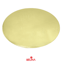 Plato torta redondo oro 40cm 2mm