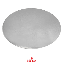 Plato torta redondo plata 40cm 2mm