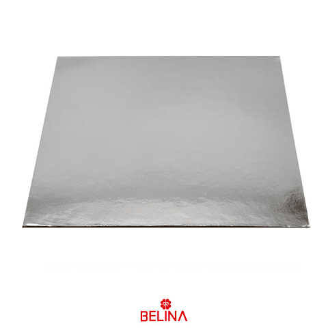 Plato Torta Cuadrado Plata 35cm 2mm
