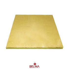 Base Para Torta Cuadrada Dorado 35.5cm 12mm