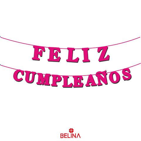 Guirnalda Feliz Cumpleaños Fucsia 15pcs 3m