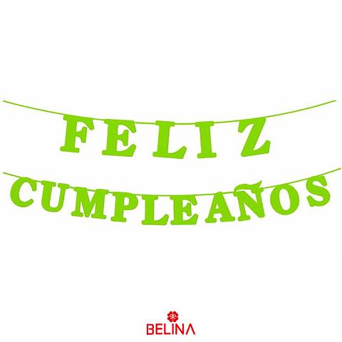 Guirnalda Feliz Cumpleaños Verde 15pcs 3m