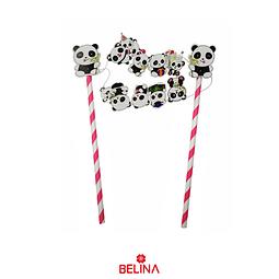 Topper Para Torta Pandas 1set
