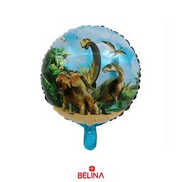 Globo Metalico Dinosaurios 45cm